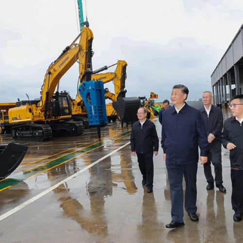 Chinese President Xi paid a visit to LiuGong