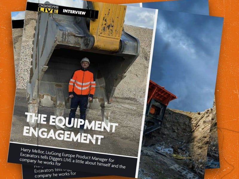 Harry Mellor, LiuGong Europe Product Manager for Excavators, on Diggers LIVE