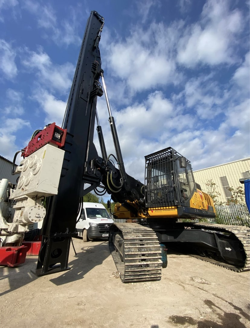 LiuGong 933E excavator modified for piling application been delivered in the U.K